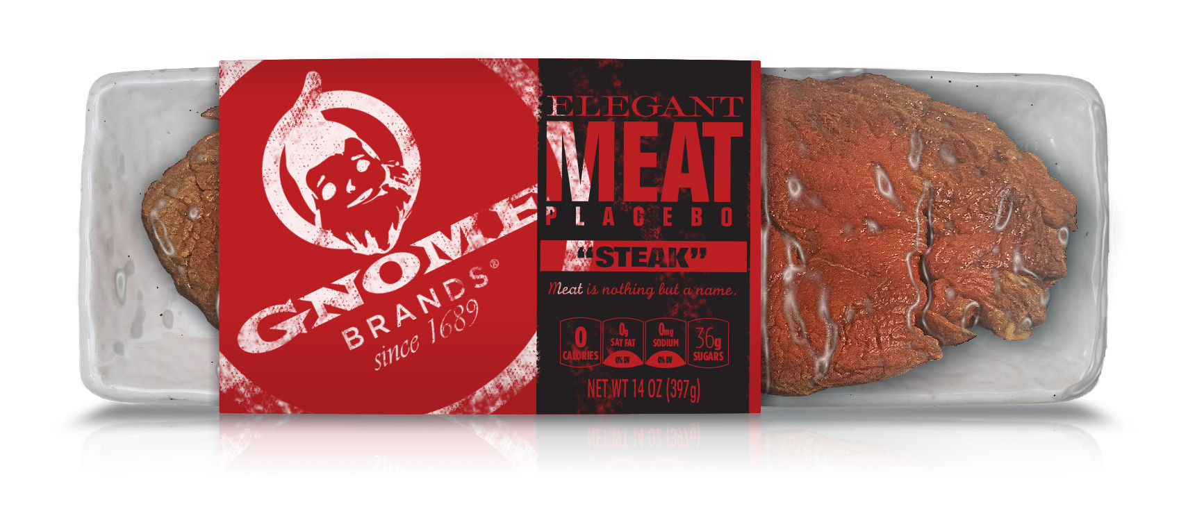 """Elegant """"Meat"""" Placebos by Gnome Brands®"""