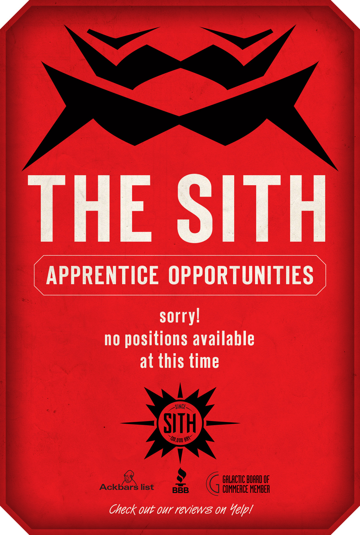 JOIN THE SITH Employment Page